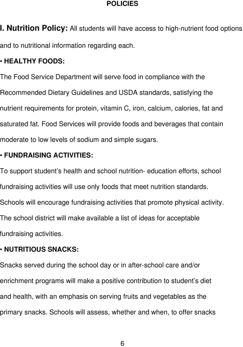 Wellness Policy Revised October 21 Pdf
