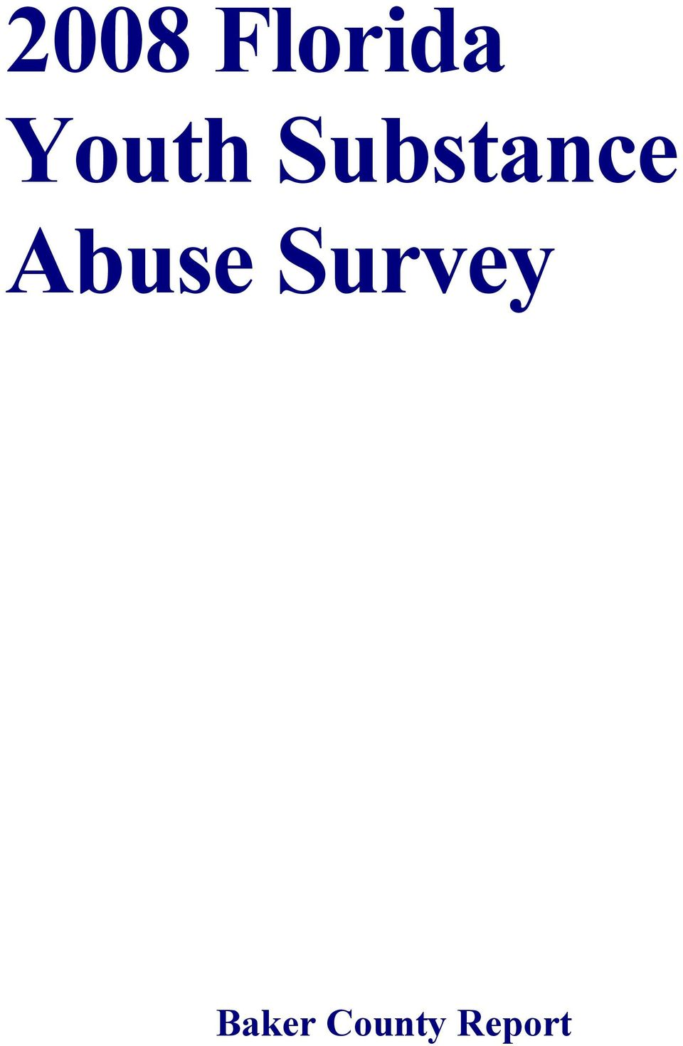 Abuse Survey