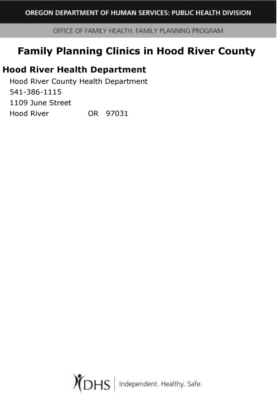 Hood River County Health Department