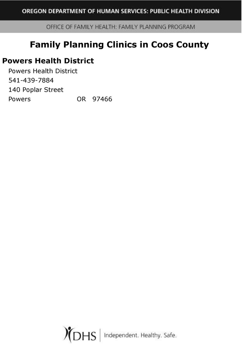 Powers Health District