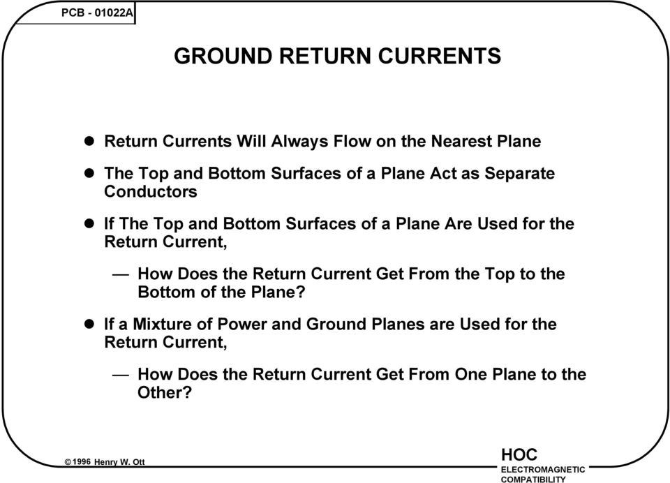 If The Top and Bottom Surfaces of a Plane Are Used for the Return Current, How Does the Return Current Get From
