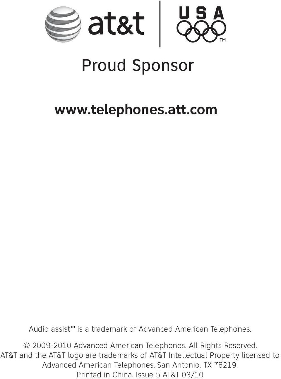 and the AT&T logo are trademarks of AT&T Intellectual Property licensed to