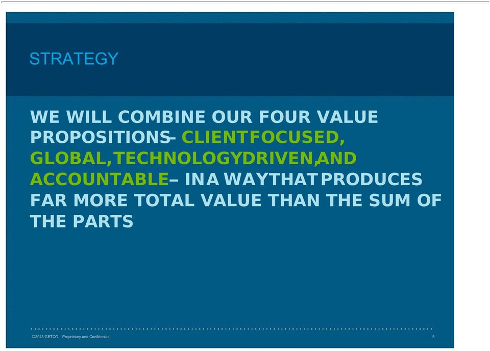 INA WAYTHAT PRODUCES FAR MORE TOTAL VALUE THAN THE SUM