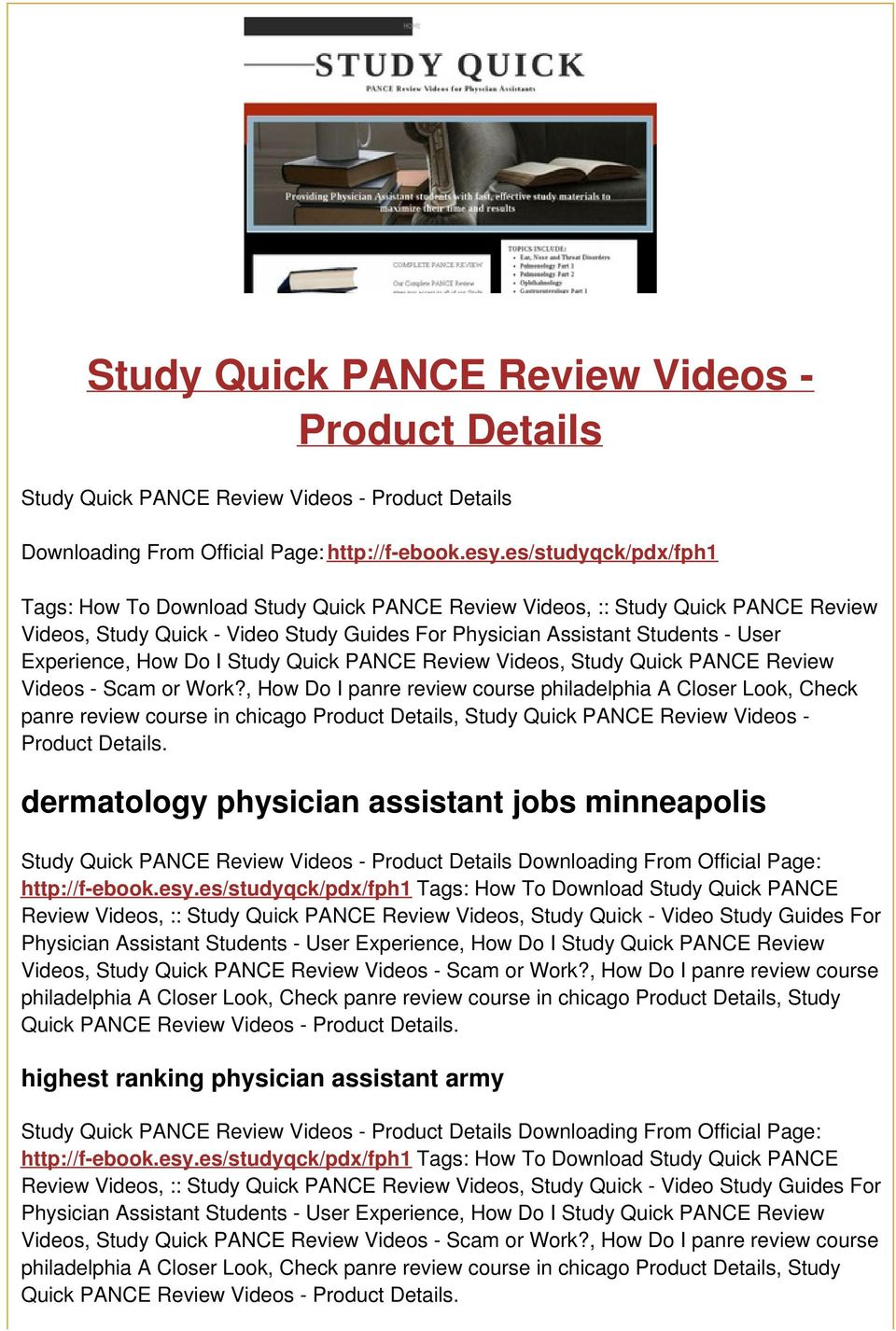 How Do I Study Quick PANCE Review Videos, Study Quick PANCE Review Videos - Scam or Work?