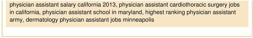 physician assistant school in maryland, highest ranking