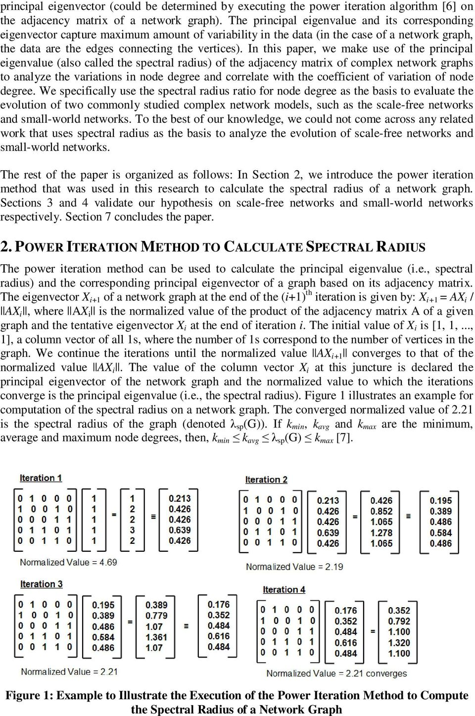 In this paper, we make use of the principal eigenvalue (also called the spectral radius) of the adjacency matrix of complex network graphs to analyze the variations in node degree and correlate with