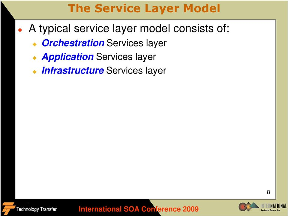 Orchestration Services layer