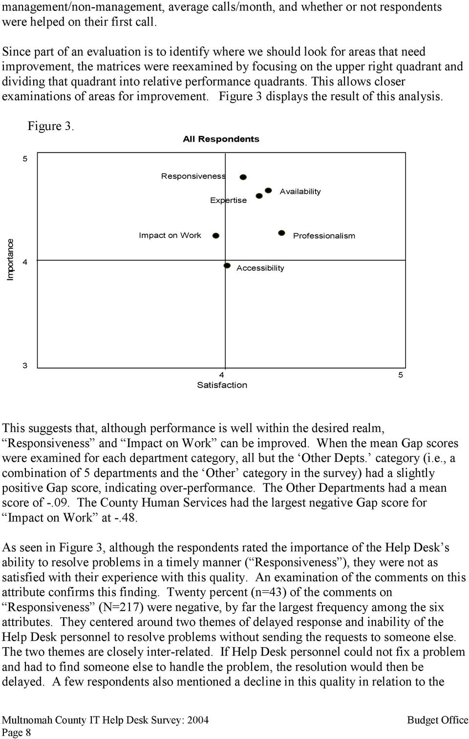 relative performance quadrants. This allows closer examinations of areas for improvement. Figure 3