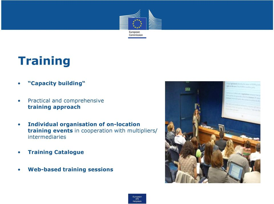 on-location training events in cooperation with