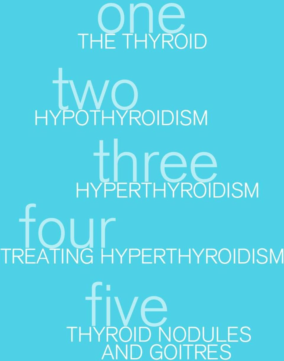 HYPERTHYROIDISM four TREATING