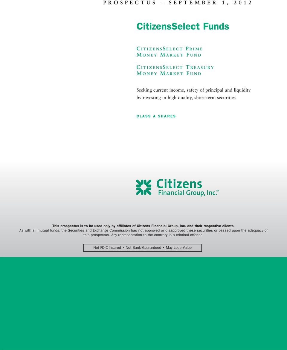 Citizens Financial Group, Inc. and their respective clients.