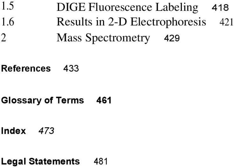 Mass Spectrometry 429 References 433