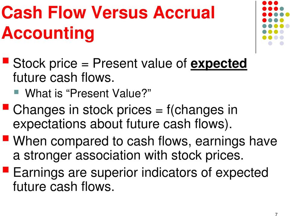 Changes in stock prices = f(changes in expectations about future cash flows).