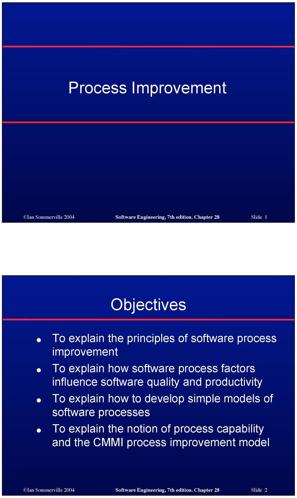 process factors influence software quality and productivity To explain how to develop simple models of software