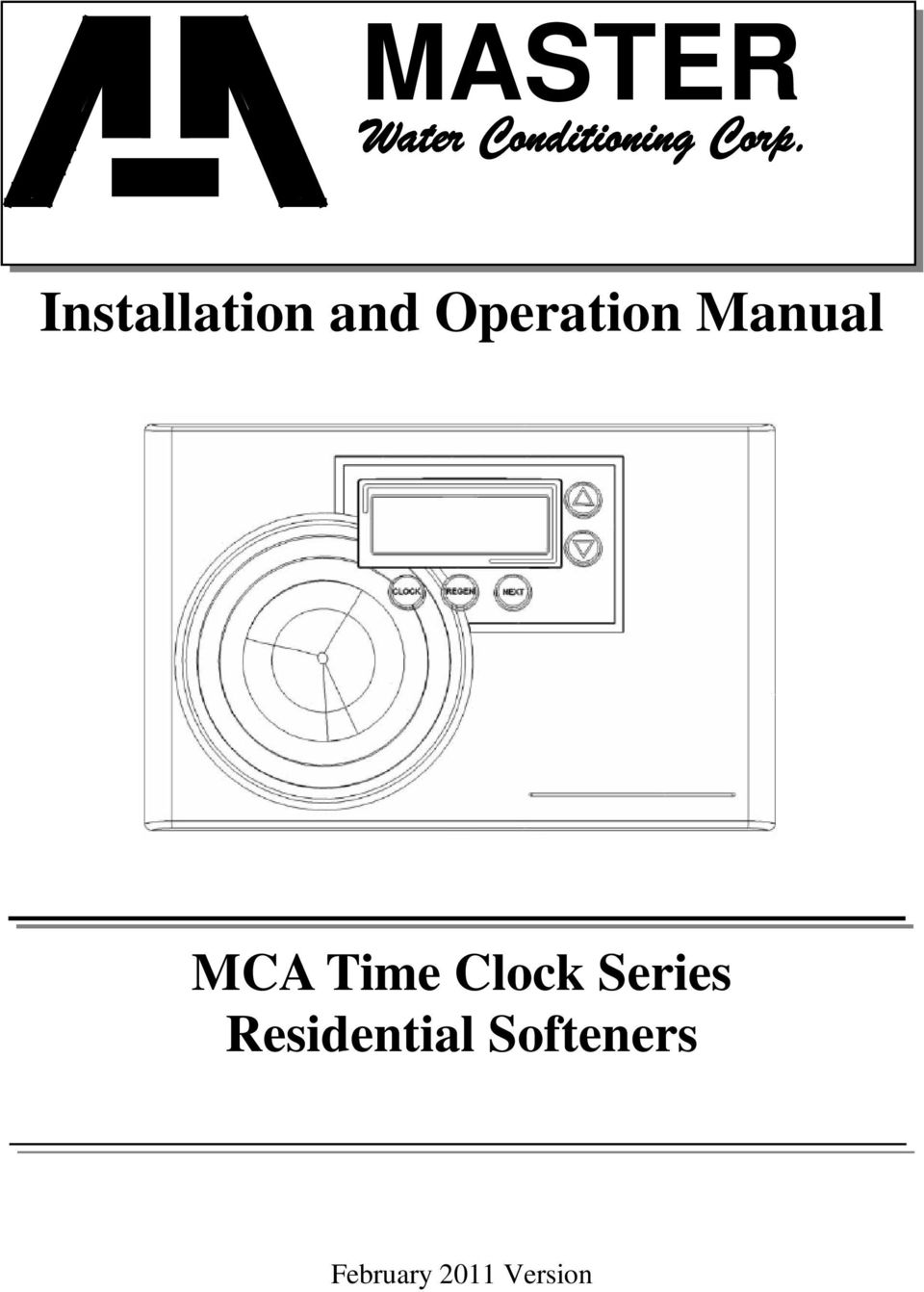 Manual MCA Time Clock Series