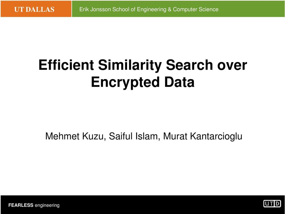 Efficient Similarity Search over