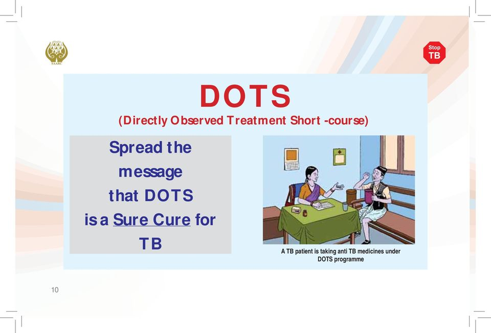 a Sure Cure for TB A TB patient is