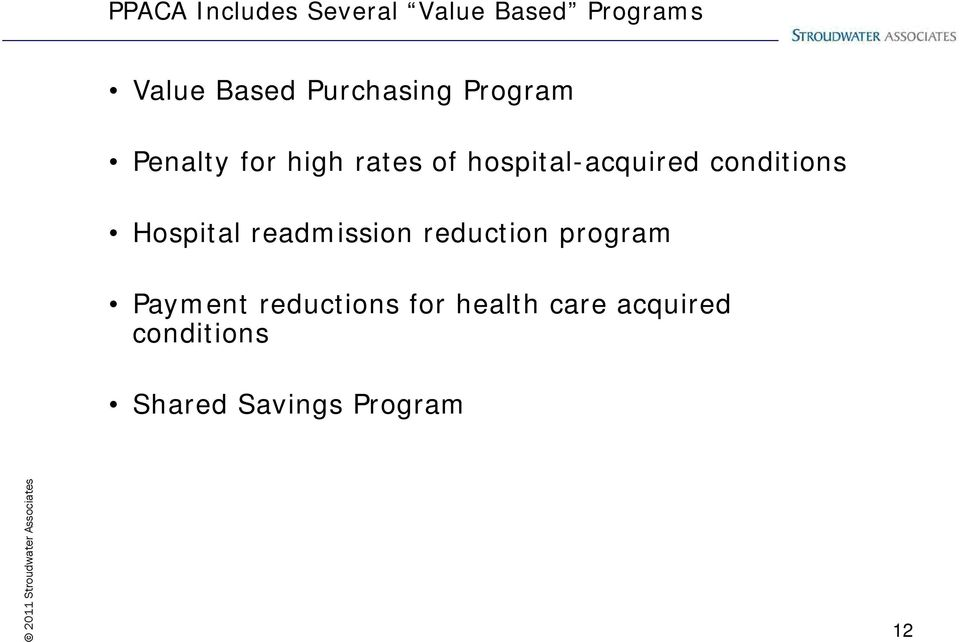 acquired conditions Hospital readmission reduction program
