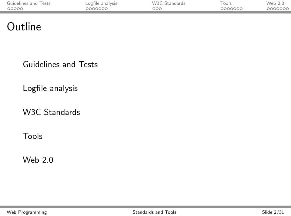 Standards Tools Web 2.