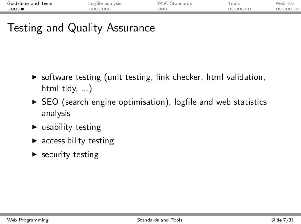..) SEO (search engine optimisation), logfile and web statistics