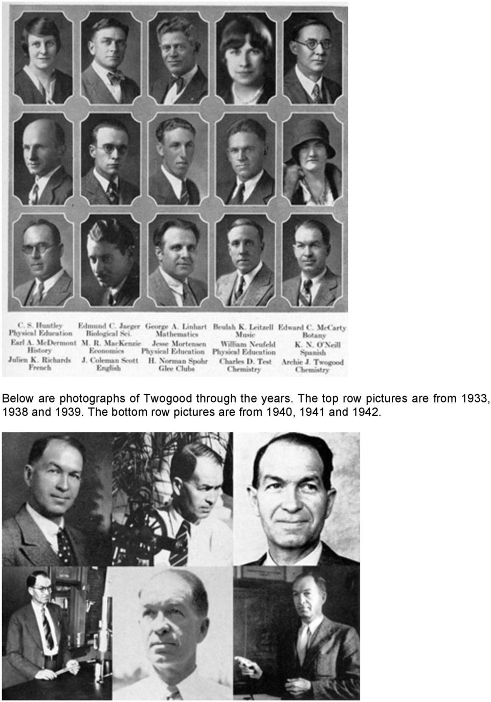 The top row pictures are from 1933,