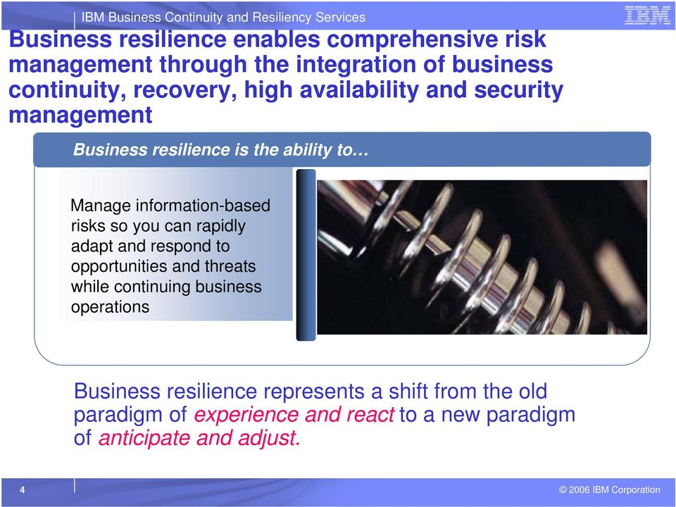risks so you can rapidly adapt and respond to opportunities and threats while continuing business operations