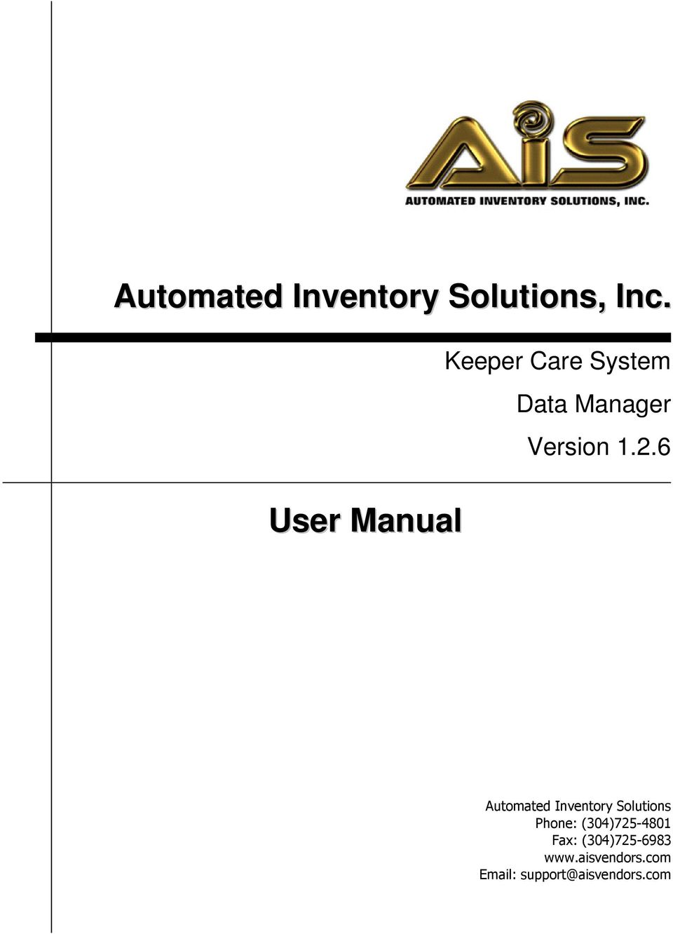 1.2.6 Automated Inventory Solutions Phone: