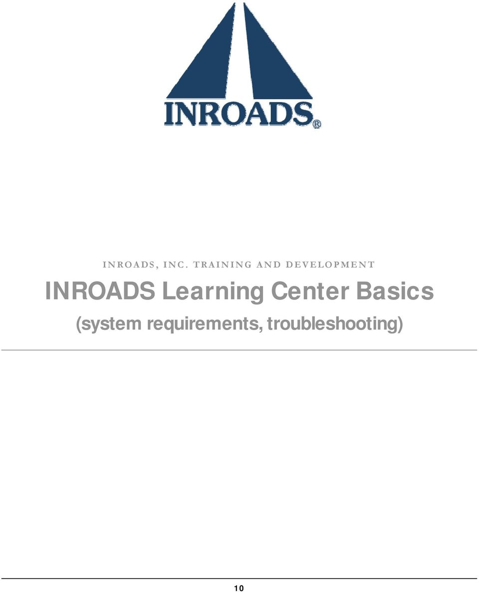 INROADS Learning Center