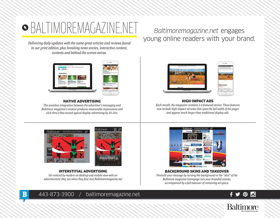 Baltimoremagazine.net engages young online readers with your brand.