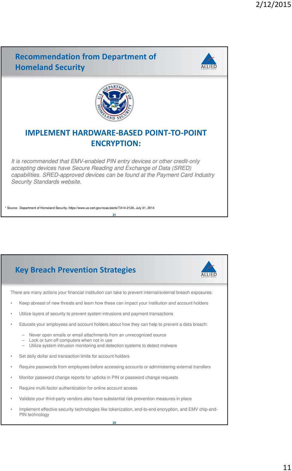 * Source: Department of Homeland Security, https://www.us-cert.