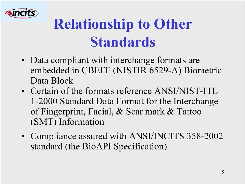1-2000 Standard Data Format for the Interchange of Fingerprint, Facial, & Scar mark & Tattoo