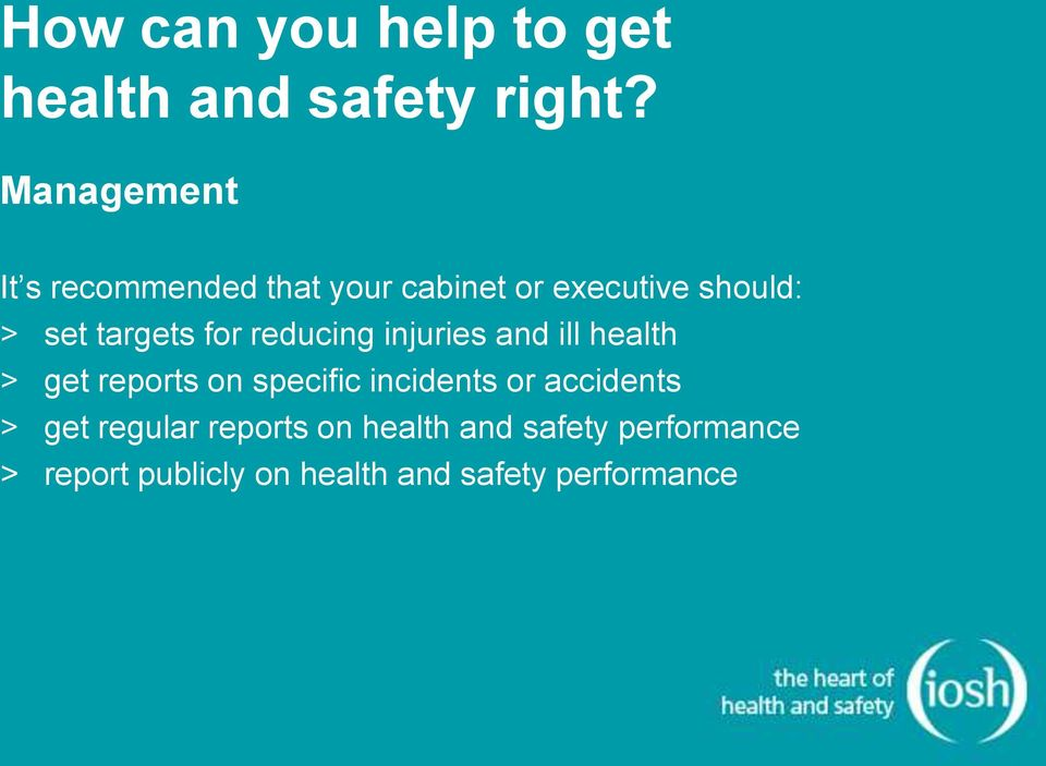 for reducing injuries and ill health > get reports on specific incidents or