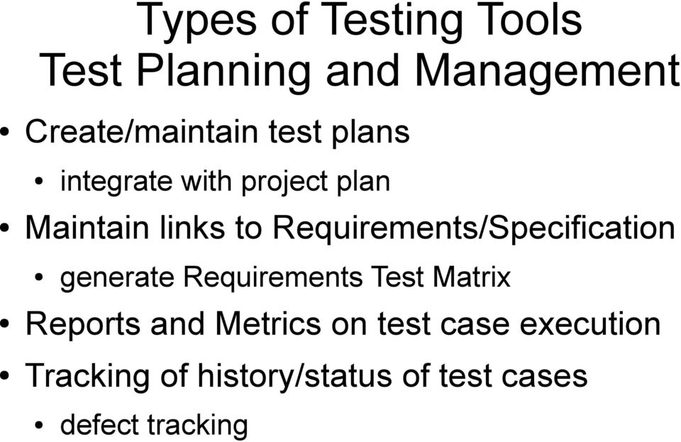 Requirements/Specification generate Requirements Test Matrix Reports