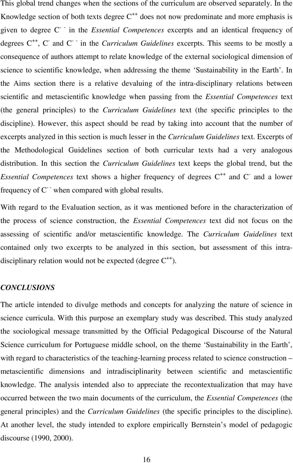++, C - and C - - in the Curriculum Guidelines excerpts.