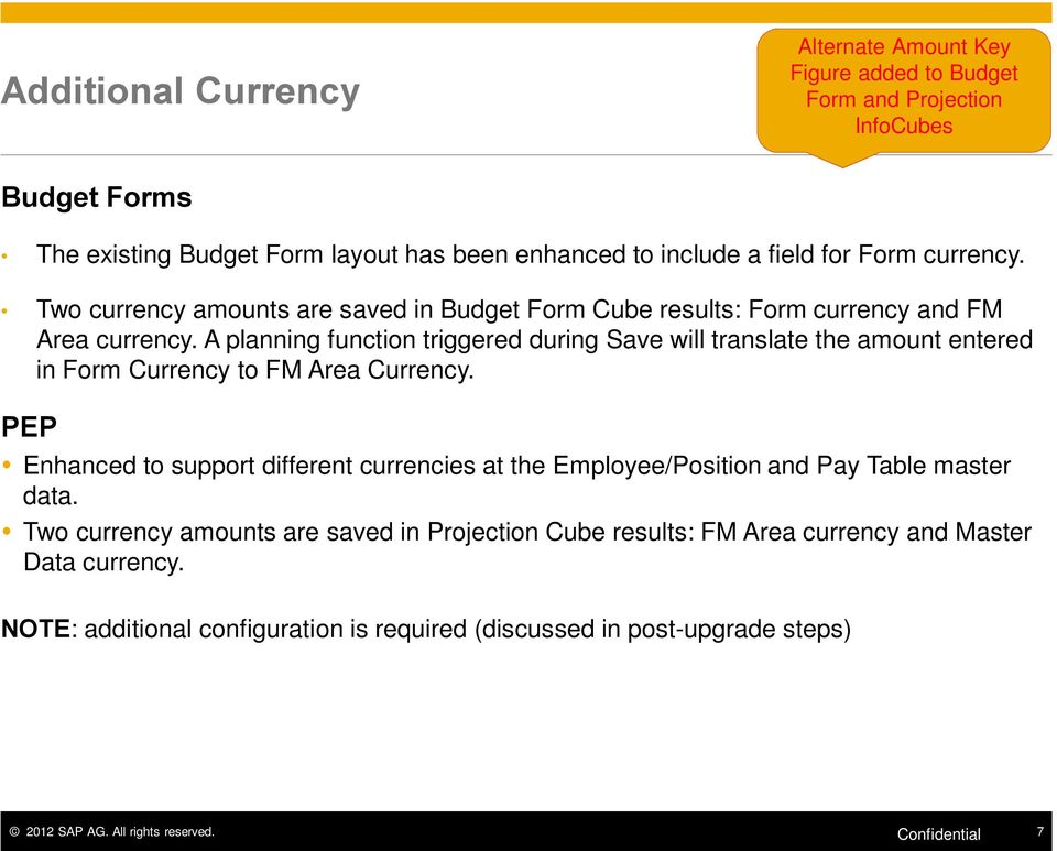 A planning function triggered during Save will translate the amount entered in Form Currency to FM Area Currency.