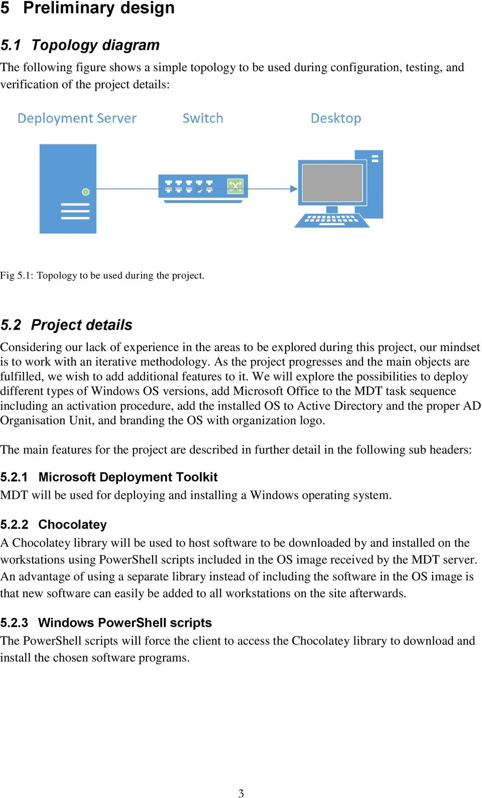 Project Proposal PDT401: Automatic deployment of operating system
