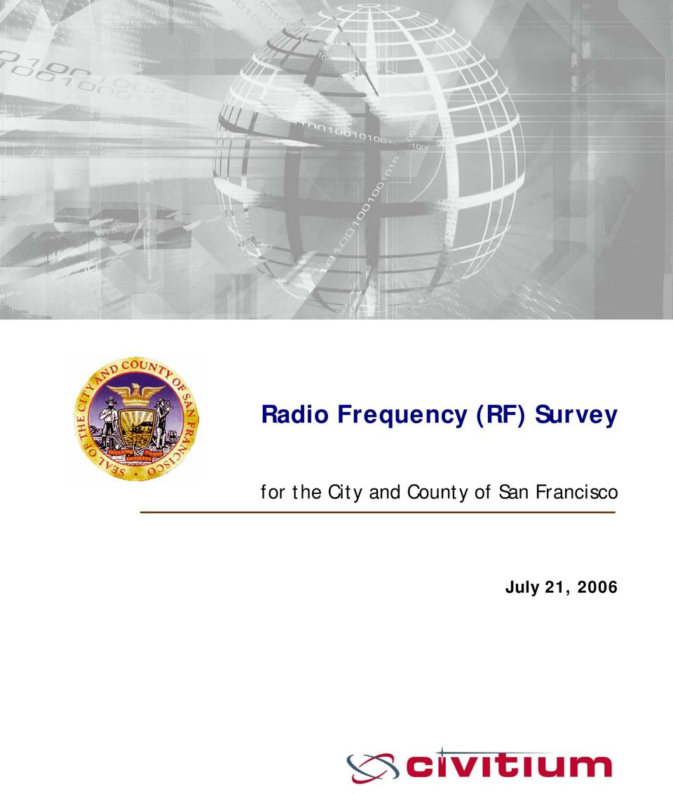 Frequency (RF) Survey for the City