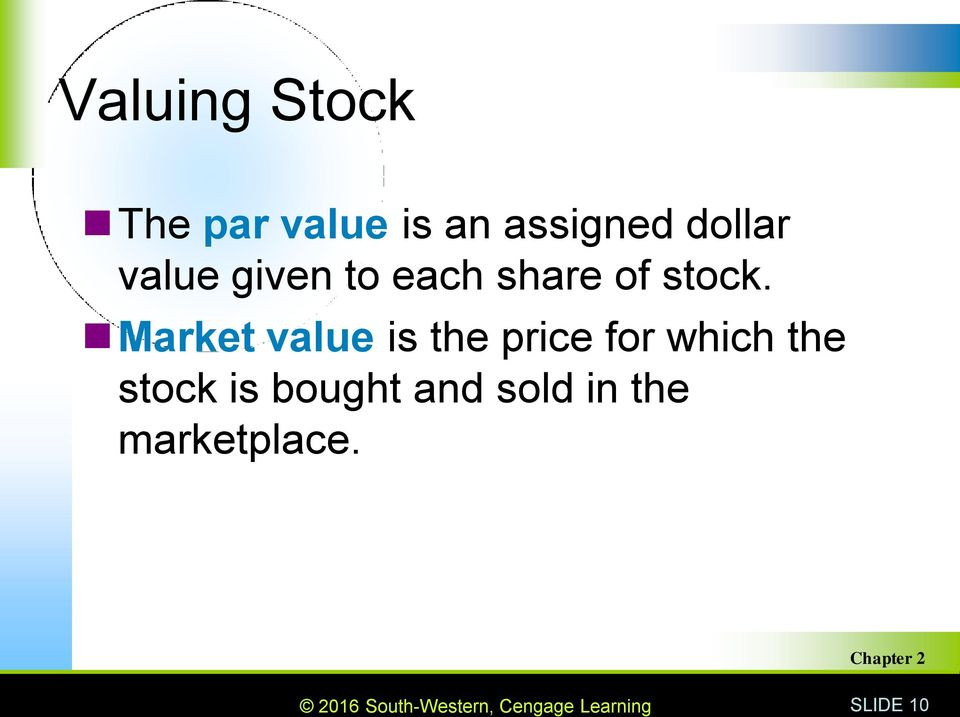 Market value is the price for which the