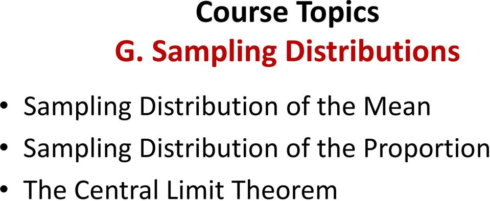 Distribution of the Mean Sampling