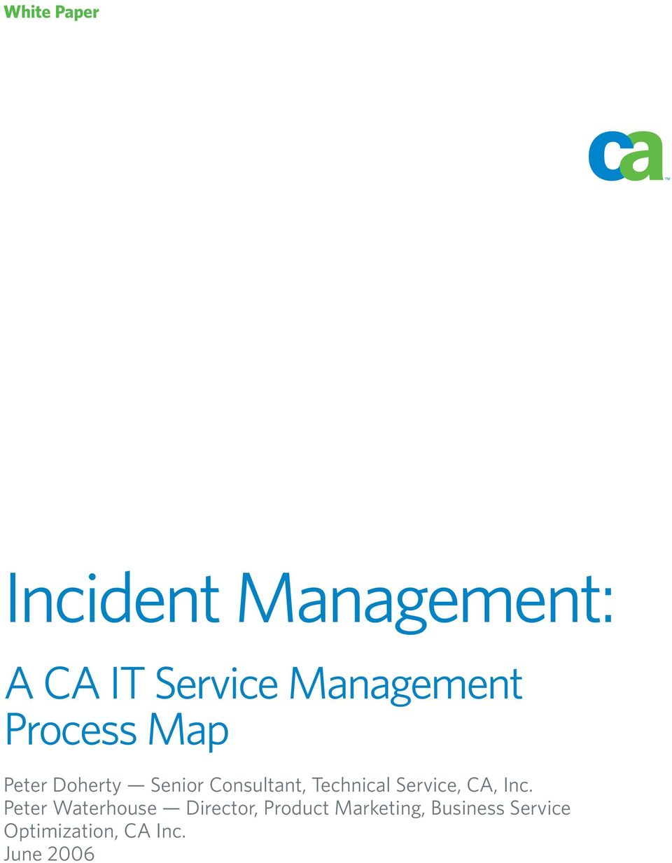 white paper incident management a ca it service management process
