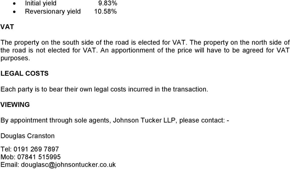 An apportionment of the price will have to be agreed for VAT purposes.