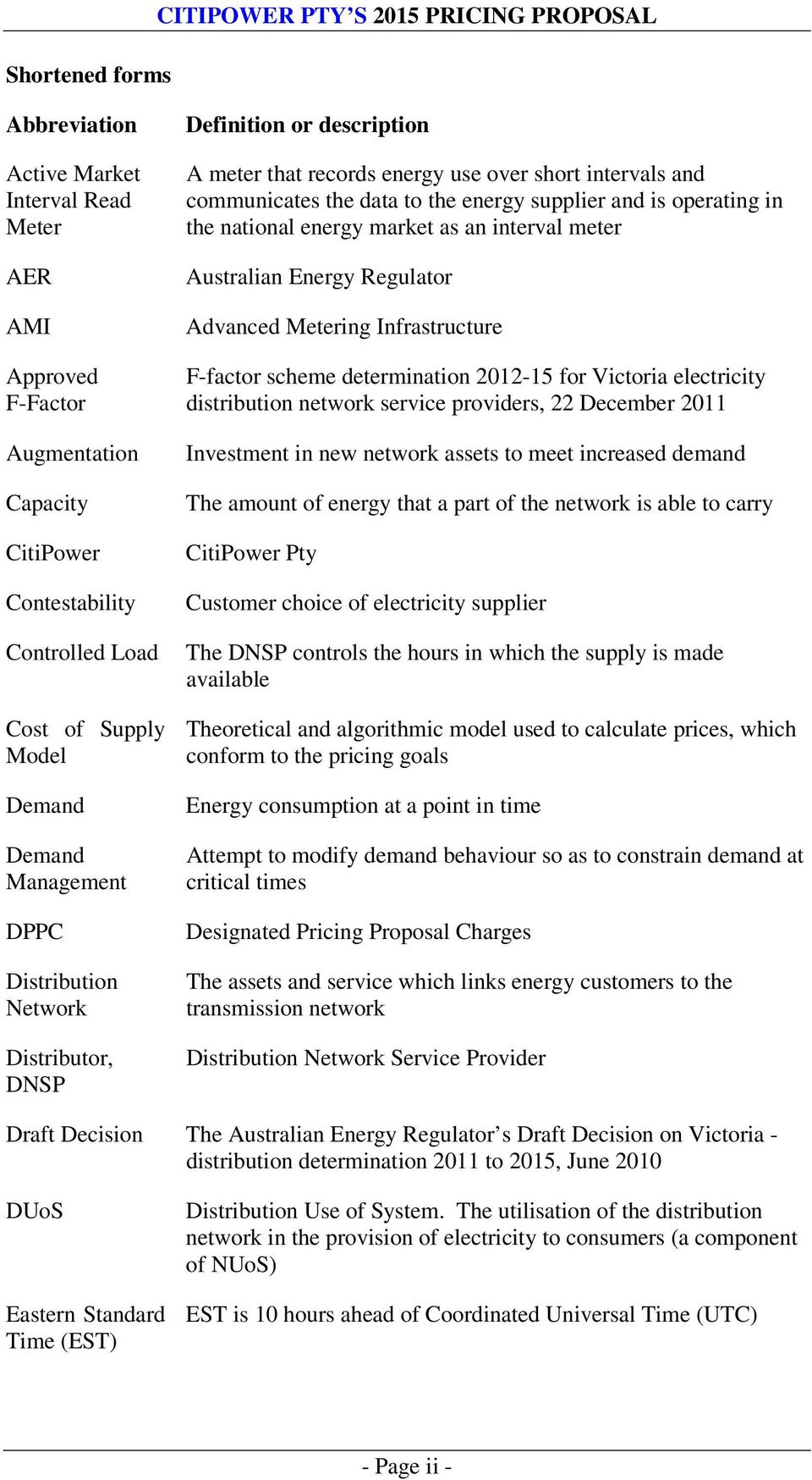 energy supplier and is operating in the national energy market as an interval meter Australian Energy Regulator Advanced Metering Infrastructure F-factor scheme determination 2012-15 for Victoria