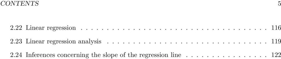 24 Inferences concerning the slope of the regression