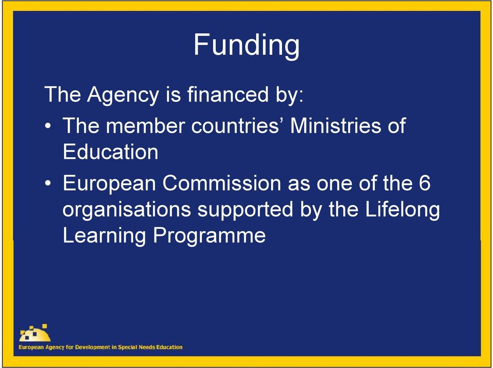 European Commission as one of the 6