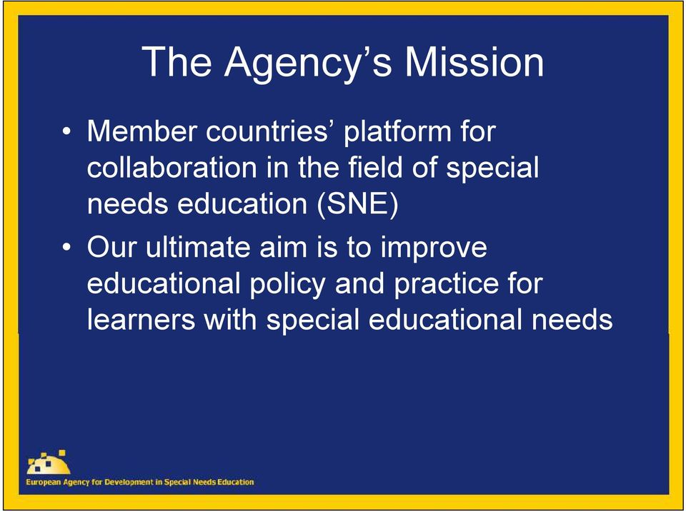 (SNE) Our ultimate aim is to improve educational