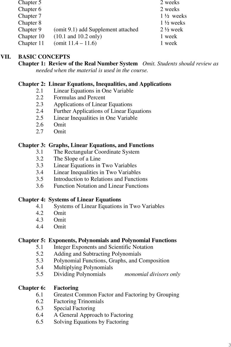 Chapter 2: Linear Equations, Inequalities, and Applications 2.1 Linear Equations in One Variable 2.2 Formulas and Percent 2.3 Applications of Linear Equations 2.