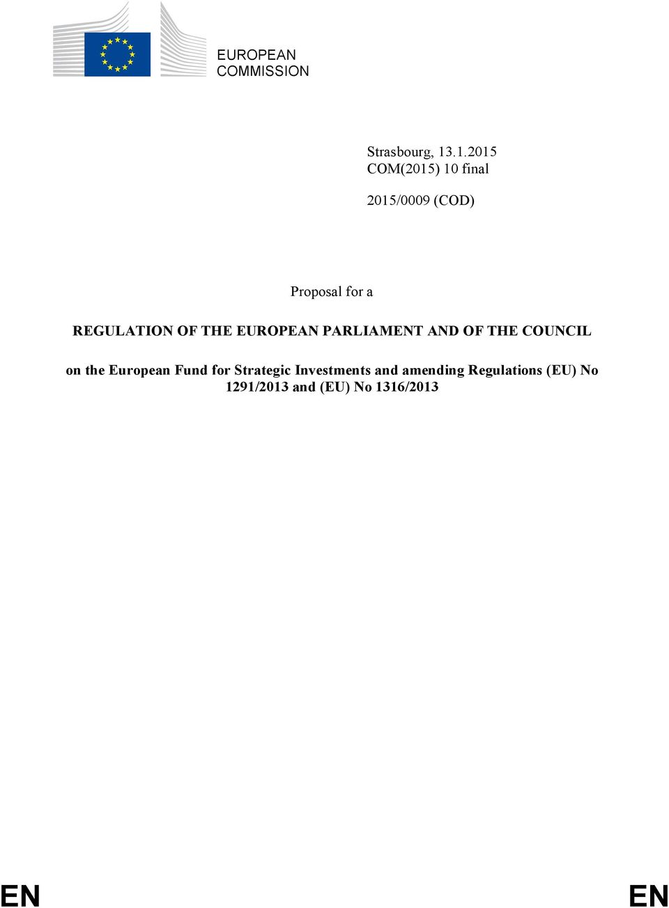 REGULATION OF THE EUROPEAN PARLIAMENT AND OF THE COUNCIL on the