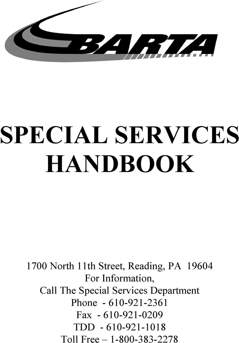 Services Department Phone - 610-921-2361 Fax -