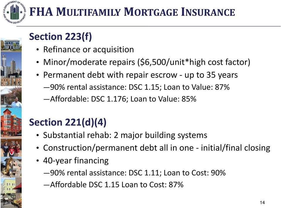 15; Loan to Value: 87% Affordable: DSC 1.