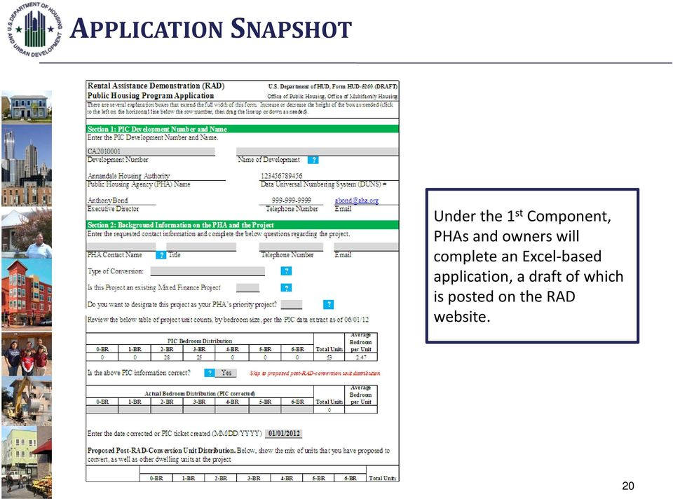 complete an Excel based application, a